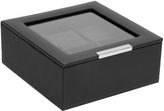 Wolf 6 Piece Watch Tray with Lid, Black