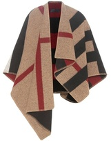 Burberry Mega Check Wool And Cashmere Cape