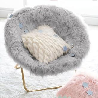 Pottery Barn Teen Himalayan Gray Faux-Fur Hang-A-Round Chair
