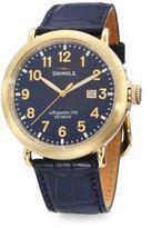 Shinola Runwell Goldtone Stainless Steel Watch
