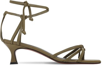 MANU Atelier 50mm Lace-Up Leather Sandals
