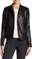 Tahari Kirsten Genuine Leather Zip Jacket