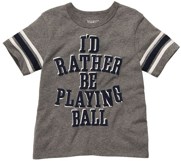 Osh Kosh i'd rather be playing ball tee - toddler