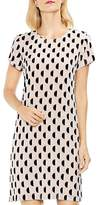 Vince Camuto Graphic Dot Clip Jacquard Shift Dress