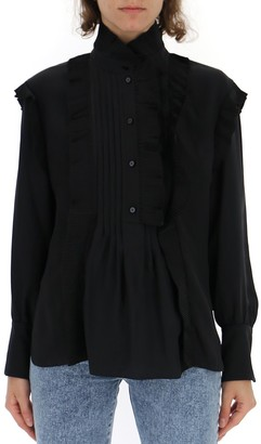 Chloé Long Sleeves Ruffled Detail Blouse