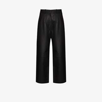 ENVELOPE1976 Oslo wide leg leather trousers
