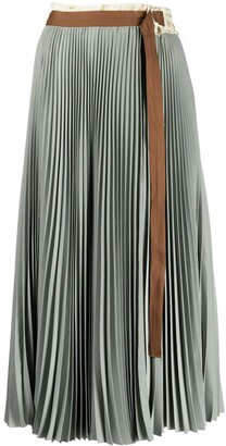 Alysi Belted Pleat-Skirt
