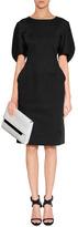 Jil Sander Black Structured Cotton Dress