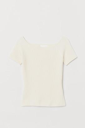 H&M Ribbed off-the-shoulder top