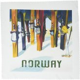 3dRose qs_163648_4 Image of Skis with Word Norway-Quilt Square