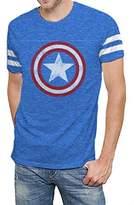 Hybrid Marvel Comics Avengers Age of Ultron Varsity Logo Mens T-shirt S
