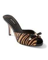 White House Black Market Tiger-Stripe Haircalf Slide