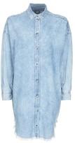 Topshop MOTO Fray Hem Shirt Dress