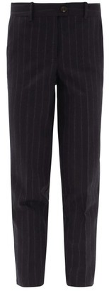 Zanini - Tailored Pinstripe-wool Trousers - Blue Stripe