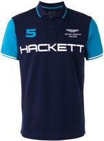 Hackett brand print polo shirt