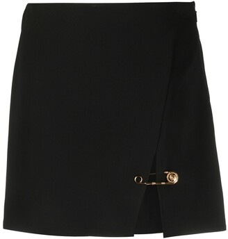 Versace Safety Pin accent mini skirt
