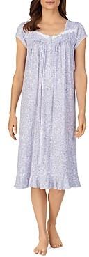 Eileen West Floral Print Cap Sleeve Nightgown