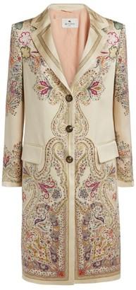Etro Printed Silk Coat