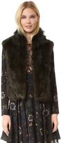 Adrienne Landau Textured Rabbit Vest