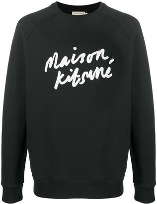 MAISON KITSUNÉ Logo-Print Sweatshirt