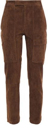 Brunello Cucinelli Stretch-suede Slim-leg Pants