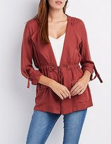 Charlotte Russe Draped Hooded Anorak Jacket