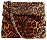 Karen Millen Regent Leather Shoulder Bag, Leopard Print