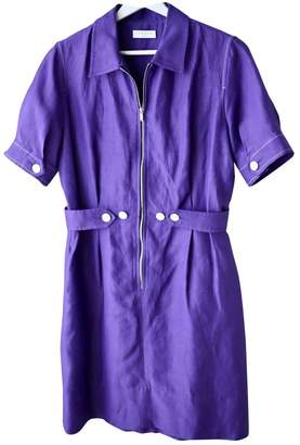 Sandro Spring Summer 2018 Purple Linen Dresses