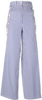 Marios striped flared pants - women - Cotton - M
