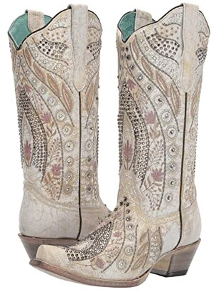 Corral Boots E1547 (White) Women's Boots