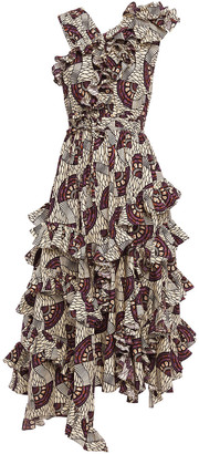 Ulla Johnson Ruffled Printed Cotton-poplin Midi Dress