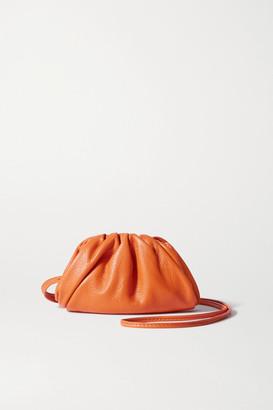 Bottega Veneta The Pouch Mini Leather Clutch - Orange