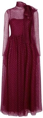 RED Valentino Glitter Polka-Dot Midi Dress