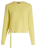 Proenza Schouler Lace up-panel wool and cashmere-blend sweater