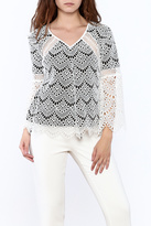 Kas Semi Lined Lace Top