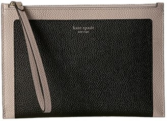 Kate Spade Margaux Small Wristlet (Black/Warm Taupe) Clutch Handbags