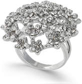 INC International Concepts I.N.C. Silver-Tone Crystal Cluster Flower Statement Ring, Created for Macy's
