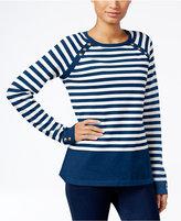 Karen Scott Petite Resort Striped Sweater, Only at Macy's