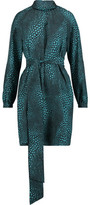 Vanessa Seward Belted Printed Silk Crepe De Chine Dress