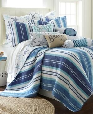 Levtex Camps Bay Coastal Print Reversible Full/Queen Quilt Set