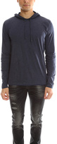 Vince Pima Cotton DBL Layer Hoody
