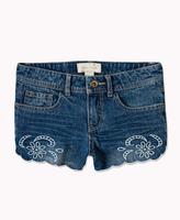 Forever 21 girls Scalloped Denim Shorts