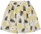 Alice + Olivia Pleated Jacquard Mini Skirt