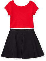 Ralph Lauren Color-Blocked Top & Skirt Set