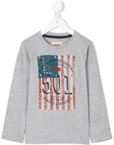 Levi's Kids - graphic flag print T-shirt - kids - Cotton/Polyester - 4 yrs