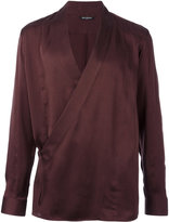 Balmain wrap shirt - men - Silk - 38
