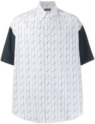 Balenciaga patched effect short-sleeved shirt