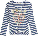 Self Esteem Mermaid At Heart Striped Knot-Front T-Shirt, Big Girls