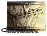 Jimmy Choo Candy Degrade Crinkled Lame Fabric Acrylic Clutch