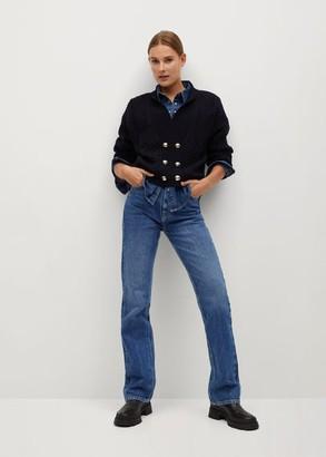 MANGO High-waist flared jeans